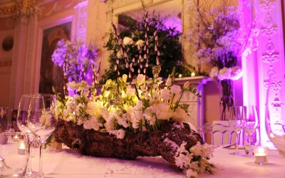 Bespoke table centres for Home House