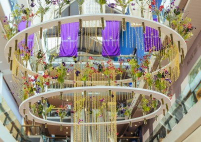 Double tiered floral chandelier