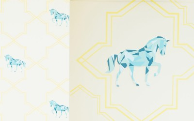 Geometric horse graphic wallpaper