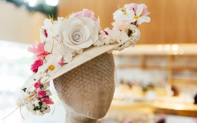 Millinery creations using paper materials