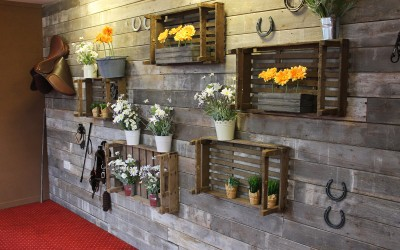 Equestrian inspired feature wall for a permanent restaurant refurbishment