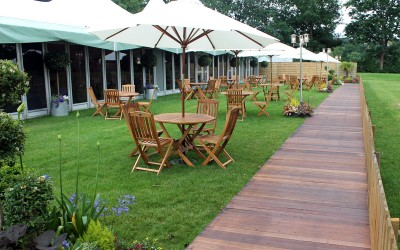 Picket fencing and decking for Wimbledon