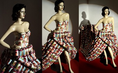 Pop art inspired bespoke can dress installation
