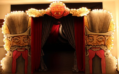 Vintage Travelling Circus entrance feature at Emirates Stadium