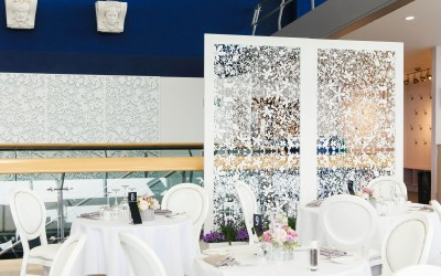 Restaurant refurbishment featuring laser cut panels